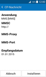 Samsung J100H Galaxy J1 - MMS - Automatische Konfiguration - Schritt 7