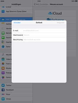 Apple iPad 4 iOS 9 - E-mail - Handmatig instellen - Stap 6