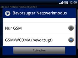 Sony Ericsson Xperia X10 Mini Pro - Netzwerk - Netzwerkeinstellungen ändern - Schritt 7