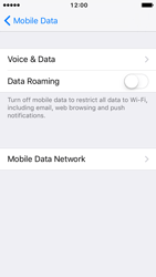 Apple iPhone 5s iOS 10 - Internet and data roaming - Disabling data roaming - Step 6
