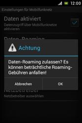 Sony Xperia E - Ausland - Im Ausland surfen – Datenroaming - Schritt 10