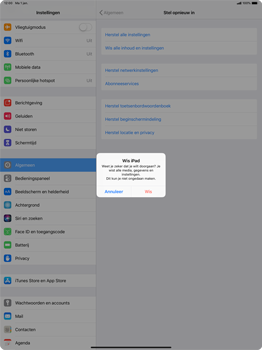 Apple ipad-pro-12-9-inch-2018-model-a1895 - Resetten - Fabrieksinstellingen terugzetten - Stap 7