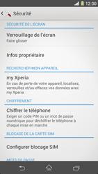 Sony Xpéria Z1 - Sécuriser votre mobile - Activer le code de verrouillage - Étape 5