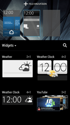 HTC One Mini - Getting started - Installing widgets and applications on your start screen - Step 4