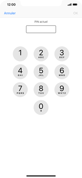 Apple iPhone XR - Sécuriser votre mobile - Personnaliser le code PIN de votre carte SIM - Étape 6