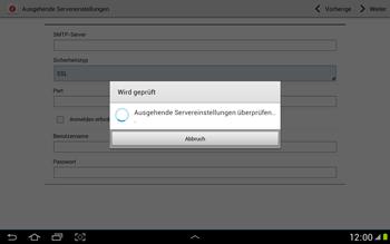 Samsung N8000 Galaxy Note 10-1 - E-Mail - Konto einrichten - Schritt 13