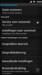 Sony ST25i Xperia U - Voicemail - Handmatig instellen - Stap 5