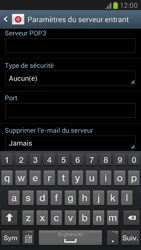 Samsung N7100 Galaxy Note II - E-mail - Configuration manuelle - Étape 8