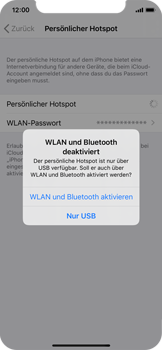 Apple iPhone X - iOS 13 - WiFi - So aktivieren Sie einen WLAN-Hotspot - Schritt 7