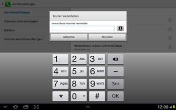 Samsung Galaxy Note 10-1 - Anrufe - Rufumleitungen setzen und löschen - 9 / 11