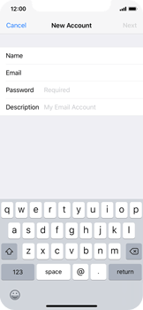 Apple iPhone X - E-mail - Manual configuration IMAP without SMTP verification - Step 9