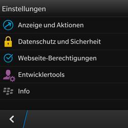 BlackBerry Q10 - Internet und Datenroaming - Manuelle Konfiguration - Schritt 15