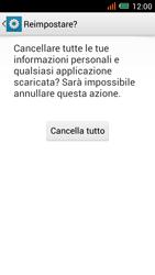 Alcatel One Touch Idol Mini - Dispositivo - Ripristino delle impostazioni originali - Fase 8