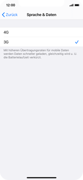 Apple iPhone XS - iOS 14 - Netzwerk - So aktivieren Sie eine 4G-Verbindung - Schritt 6