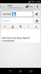 Sony D2203 Xperia E3 - E-mail - Sending emails - Step 8
