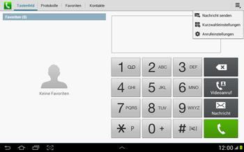 Samsung Galaxy Note 10-1 - Anrufe - Rufumleitungen setzen und löschen - 5 / 11