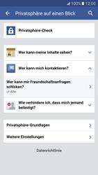 Samsung Galaxy S7 - Datenschutz und Sicherheit - Datenschutzeinstellungen von Facebook ändern - 26 / 35