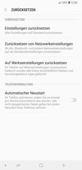 Samsung Galaxy Note9 - Fehlerbehebung - Handy zurücksetzen - 8 / 12