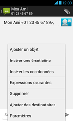 Bouygues Telecom Bs 401 - Contact, Appels, SMS/MMS - Envoyer un MMS - Étape 9