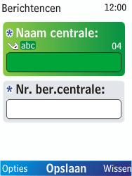 Nokia X2-00 - SMS - Handmatig instellen - Stap 8
