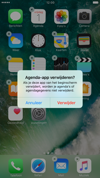 Apple Apple iPhone 6 Plus iOS 10 - iOS features - Verwijder en herstel standaard iOS-apps - Stap 4