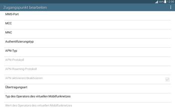Samsung T535 Galaxy Tab 4 10.1 - Internet und Datenroaming - Manuelle Konfiguration - Schritt 14
