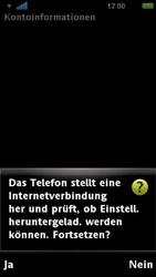 Sony Ericsson U5i Vivaz - E-Mail - Konto einrichten - Schritt 9