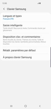 Samsung Galaxy S10 - Prise en main - Comment ajouter une langue de clavier - Étape 8