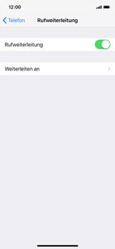Apple iPhone XS - Anrufe - Rufumleitungen setzen und löschen - 6 / 9