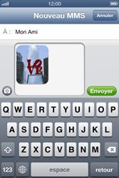 Apple iPhone 4 - iOS 6 - MMS - envoi d'images - Étape 12