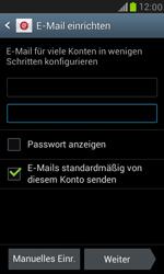Samsung I8190 Galaxy S3 Mini - E-Mail - Konto einrichten - Schritt 6