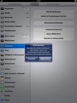 Apple iPad Retina - Gerät - Zurücksetzen auf die Werkseinstellungen - Schritt 8
