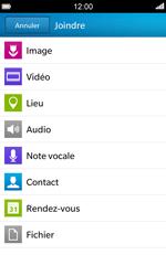 BlackBerry Z10 - Contact, Appels, SMS/MMS - Envoyer un MMS - Étape 11