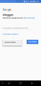 Samsung Galaxy A8 (2018) - apps - account instellen - stap 5
