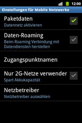 Samsung Galaxy Xcover - Ausland - Im Ausland surfen – Datenroaming - 8 / 12