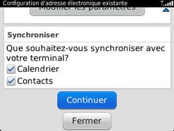 BlackBerry 9320 - E-mails - Ajouter ou modifier un compte e-mail - Étape 10