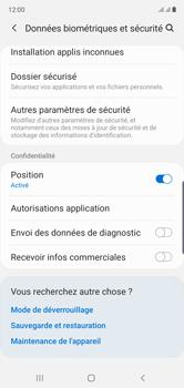 Samsung Galaxy Note 10 - Sécuriser votre mobile - Personnaliser le code PIN de votre carte SIM - Étape 5