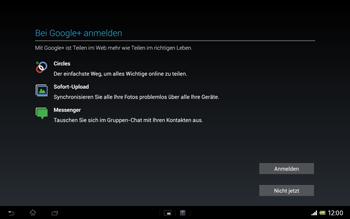 Sony Xperia Tablet Z LTE - Apps - Konto anlegen und einrichten - Schritt 18