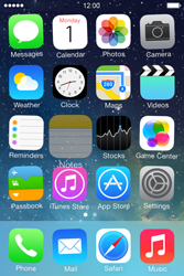 Apple iPhone 4S iOS 7 - Getting started - personalising your Start screen - Step 3