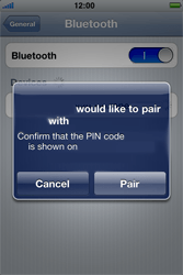 Apple iPhone 4 S - Bluetooth - Pair with another device - Step 7