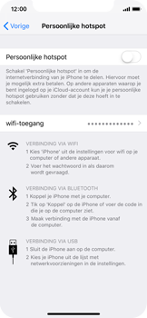 Apple iPhone XS - Internet - mijn data verbinding delen - Stap 4