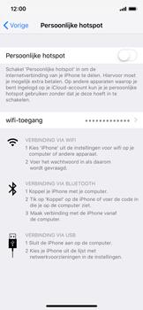 Apple iPhone XS - Internet - Stel mobiele hotspot in - Stap 4