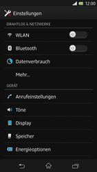 Sony Xperia Z - Netzwerk - Netzwerkeinstellungen ändern - 4 / 7
