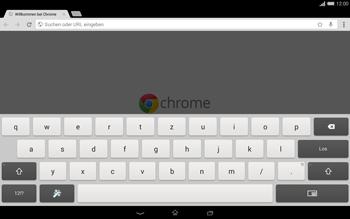 Sony Xperia Tablet Z2 LTE - Internet und Datenroaming - Verwenden des Internets - Schritt 6