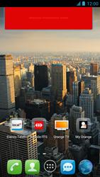Alcatel One Touch Idol - Operazioni iniziali - Installazione di widget e applicazioni nella schermata iniziale - Fase 8