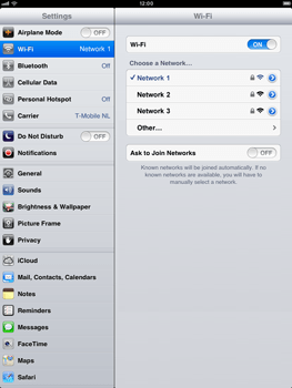 Apple iPad mini - WiFi - WiFi configuration - Step 7