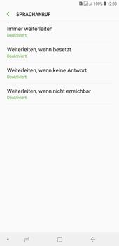 Samsung Galaxy J4+ - Anrufe - Rufumleitungen setzen und löschen - Schritt 10