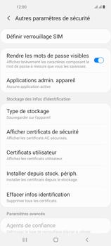 Samsung Galaxy A21s - Sécuriser votre mobile - Personnaliser le code PIN de votre carte SIM - Étape 6