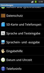 Samsung I9000 Galaxy S - Fehlerbehebung - Handy zurücksetzen - Schritt 6