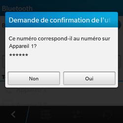 BlackBerry Q10 - Bluetooth - Jumelage d